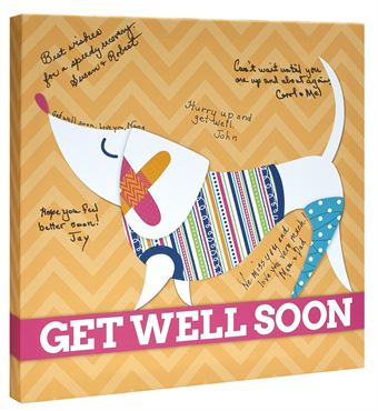Picture of Get Well - Autograph Dog Orange - Buy any 2 and get FREE SHIPPING
