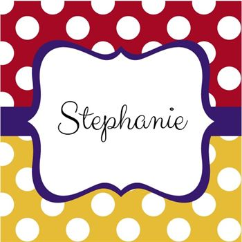 Picture of Whimsical Dots Monogram